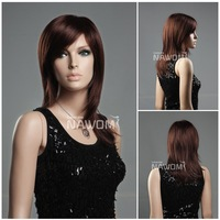 Sexy brown French lace hair  european wig fashion style lady must shops popular western women wigs