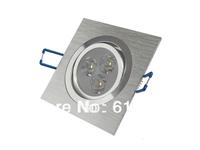 Free shipping 5pcs/lot Square 3x1w 3x2w 3x3w ceiling light 3w 6w 9w led spot light lamp