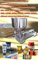 Free shipping whole sale price air pump filler single head liquid pepper sauce paste cream filling machine