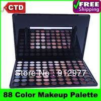 Free Shiping  Popular W88, 88 Warm Color makeup Eye Shadow Palette with mirror & eyeshadow brush