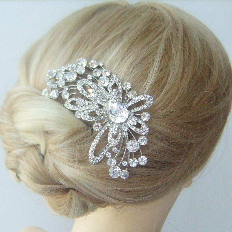 Bridal Hair accessories, Rhinestone Wedding Hair Comb, Crystal Bridal Hair Comb, Wedding Jewelry, Wedding Headpiece - FSE04621C1(China (Mainland))