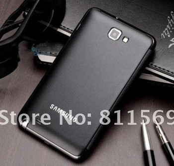 Free shipping high quality leather cover for S2 Samsung GALAXY Note i9220