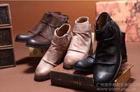 Free Shipping! New 2014 Fashion British Style Men's Boots, Cowboy Men's Short Boots Classic Vintage Adult Shoes EU 38 -43