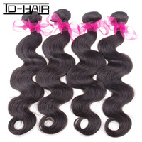 Wholesale Price 5A Brazilian Virgin Hair Extension Body Wave 4pcs lot Natural Color 1b# TD Human Hair Products