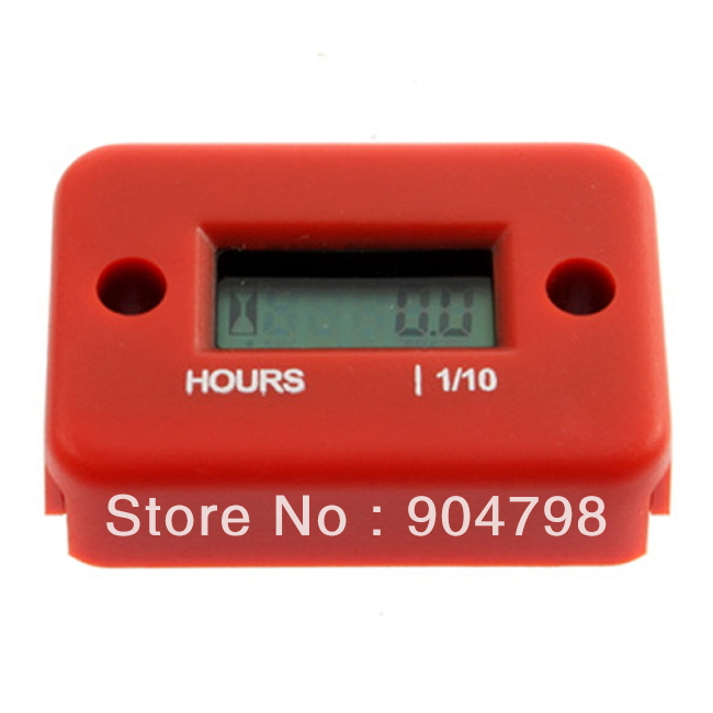 1pcs red Hour Meter for Dirt Quad Bike ATV Motorcycle Snowmobile Worldwide FreeShipping(China (Mainland))