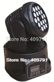 Free Shipping LED Moving Head Light 18*3w LED Wash Moving Head Light DJ Party Night Club Bar KTV Disco Stage Spot Light