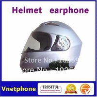 201209 Free Shipping Black One Piece Bluetooth Motorcycle Helmet Headset with FM Radio