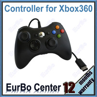 Black Wired Game Controller for Xbox 360 (EX004)