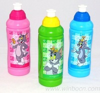 FREE SHIPPING,Tom and Jerry 400ml BPA free foodgrade kids PE sports water bottle