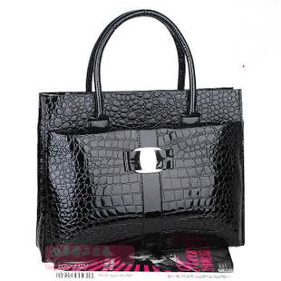 2015 Hot selling Luxury Lady Women's Crocodile Pattern shoulder crossbody Handbag Tote popular leather women messenger Bag B271