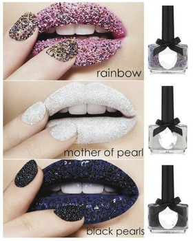 Caviar manicure/caviar polish kit/with three fashion colors : Black/White/Rainbow 144Sets/Lot HB978 Free Shipping