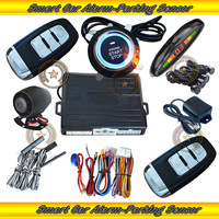NEW! Remote start car alarm ,passive keyless entry,push button start,card smart key,passwards unlock,+/- side door trigger