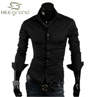 2014 Hot Sale Men/Male Casual Fashion Slim Stylish Shirts/Clothing 10 Color Size M-L-XL-XXL  Free Shipping MCL004