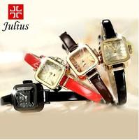 Woman Watches 2014 Famous Brand Korea JULIUS Fashion Casual Quartz Wristwatches Square Three-dimentional Cutting Face Watch 496