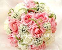 Free shipping PE bouquet rose, foam roses flower ball, wedding bouquet decoration