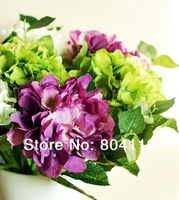 38cm Tall Silk Hydrangea Stem Artificial Flower Home Decorations