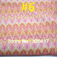 Pink Missoni  lace fabrics Knitted dress lace trim orange