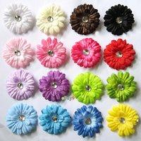 Summer  flower 16pcs Mini 2inch daisy flower baby hair bows clip headband  yz16