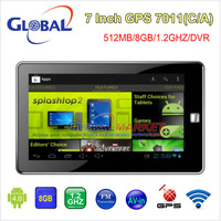7 inch android 4.0 GPS MID bulit-in wifi AV-in ,support surf the internet ,navigator with 1.2GHz CPU,512M/8G/2160P,free shipping