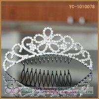 Free Shipping Stunning Fashion Bridal Rhinestone Flower Pattern Crystal Hair Combs