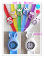 20pcs/lot Lovely Children Gifts Little Owl.Marmot Slap Silicon Bracelet Watch New Whole Hot Sale Free Shipping (NBSLOM)