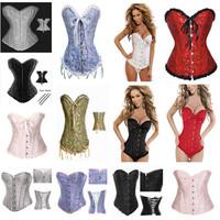 Brand New Steel Boned Lace up Back Corset Hot Sale Sexy Shapewear  Women Sexy Lingerie Halloween Costume
