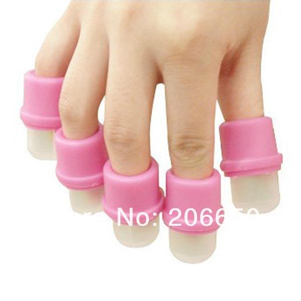 Salon DIY UV Gel Polish Remover Soak Soakers Cap Tool Pink UV Gel