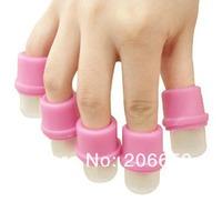 10X Nail Acrylic Wearable Salon DIY UV Gel Polish Remover Soak Soakers Cap Tool Pink UV Gel Free Shipping