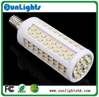 E27 E14 B22 12w 9w 7w  3528 SMD 216/112/108 LED Cold/warm White brightful Corn Light lamp 220v/110v
