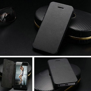 Ultrathin flip leather case for iPhone 5s smartphone stand cover for iphone5 luxury housing mobile phone leather handbag