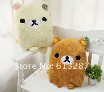 Free Shipping Kawaii Rilakkuma Plush Toy,Back Cushion,Throw Pillow,Car Back Seat Cushion Novelty Toy,Christmas Gift Retail