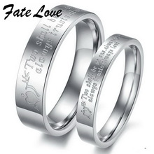 Jewellery Finger Rings 2012 jewelry titanium steel Couple Ring gj299