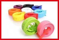 Wholeale  23colors  fashional  cute silicone belts 2cm    200pc /lot   Fedex  Freeshipping