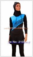 Hot modest 2014 spandex polyester Muslim swimsuits Islamic swimwear/Muslim swimwear