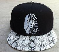 free shipping Hiphop cap snakeskin last kings last king snapback deduction cap tyga adjust cap