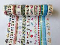 1393  ! patterns  DIY japanese tape Colorful Tape/DIY Printed adhesive Tape/paper masking Tape 30pcs/lot  Free shipping