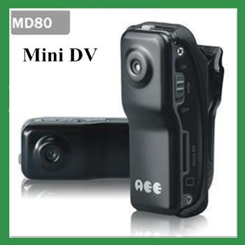 Free shipping MD80 BLACK ssk mini dv camera player recorder video camera hidden camera mini camcorder