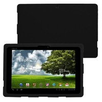 Silicone Skin Cover Case for Asus Eee Pad Transformer TF101 Tablet - Black Free Shipping