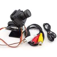 CM210 high resolution CMOS fpv camera with nylon pan/tilt and 2PCS goteck GS-9025MG metal gear servo