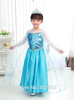 Free Shipping  Elsa/Halloween Minnie Mouse Girls child children Party Christmas Costume Ballet Tutu Dress 2-10Y Kids