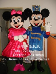 2013 Factory Outlet Military uniform Mickey Mouse mascot Mickey costume Military uniform Mickey Mouse mascot costume(China (Mainland))
