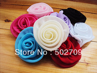 Free shipping! 50pcs/lot 7.5-8cm chiffon fabric diy flower for garments shoes hats brooches hair ornaments accessories