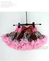 Wholesale Baby Girl Tutu Skirt Pink Leopard Print Kids Petti Skirts Wholesale Children Wear Kids Garment 5PCS/LOT TS21011-01^^EI