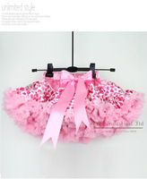 Wholesale 2013 New Toddlers Petti Skirt Pink Love Designer Girl Tutu Skirts Brand Kids Clothes 5PCS/LOT TS21011-08^^EI