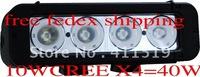 free ship 2pcsx  IP68 8 Inch 10x4 40W CREE LED Light Bar/truck  rear driving off-road ATV light   6061 Aluminum Housing