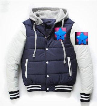 New casual fashion men's Short down coat jacket coat/winter Baseball  letter Hoodies warm downcoat size M-XXL