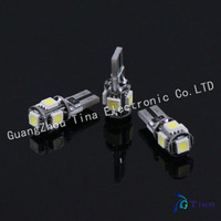 Free Shipping 30pcs/lot NO OBC ERROR T10 Canbus W5W 194 5050 SMD 5 LED Error Free White Light Bulbs