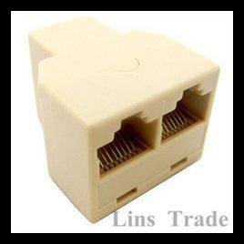 Free shipping New 20PCS RJ45 network Lan Splitter Extender Connector Plug #8016