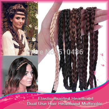 1PC  Elastic Hairband Wig Braid Braided Hair Accessories Head Band Hair Weaving Ring Rope Headwear