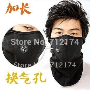 Free shipping Ski Snowboard Bike Motorcycle face mask helmet  Neck Warm black
